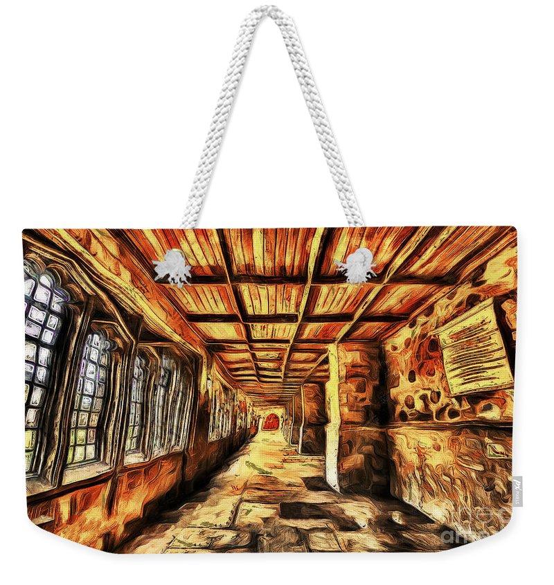Hallway Weekender Tote Bag featuring the digital art The Hallway by Ankit Gautam