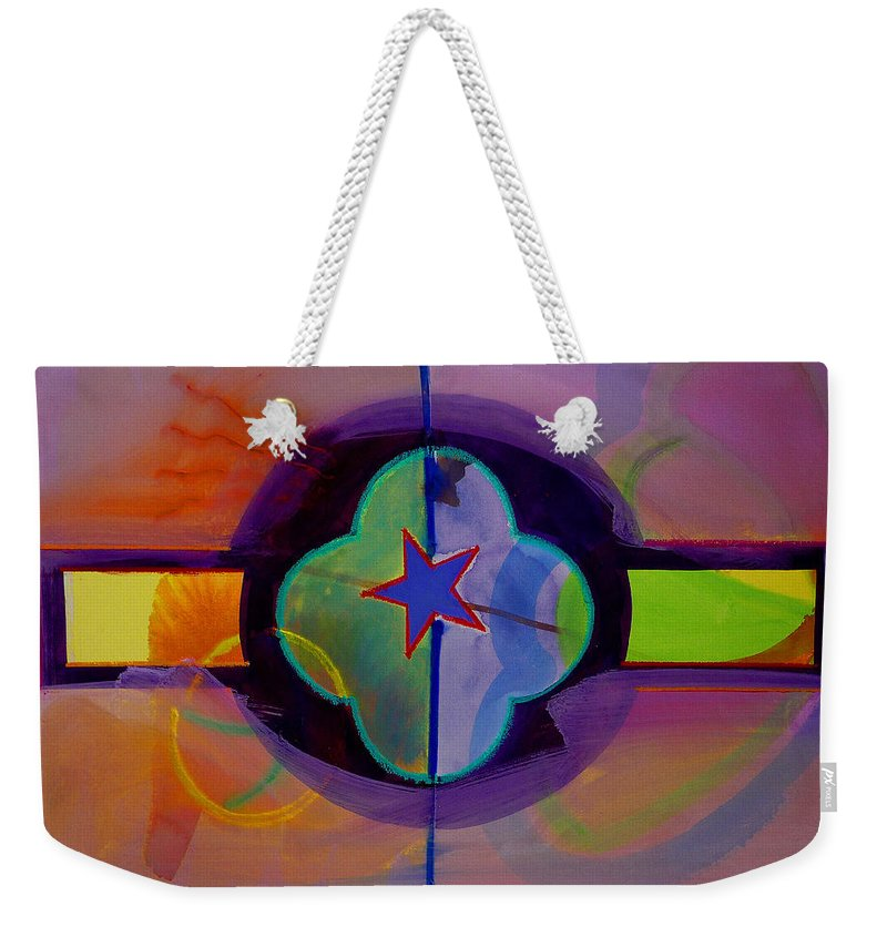 Star Weekender Tote Bag featuring the painting The Happy American by Charles Stuart
