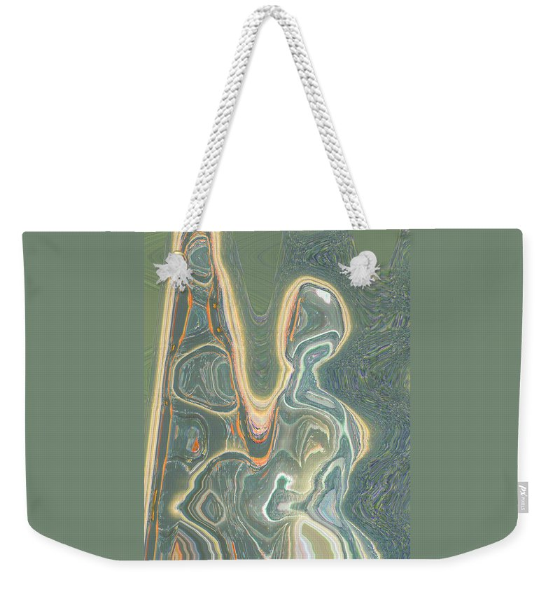 Abstract Weekender Tote Bag featuring the digital art The Harp Player by Lenore Senior