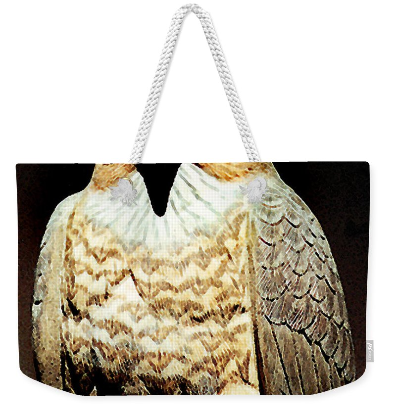 Birds Weekender Tote Bag featuring the painting The Hawk by Paul Sachtleben