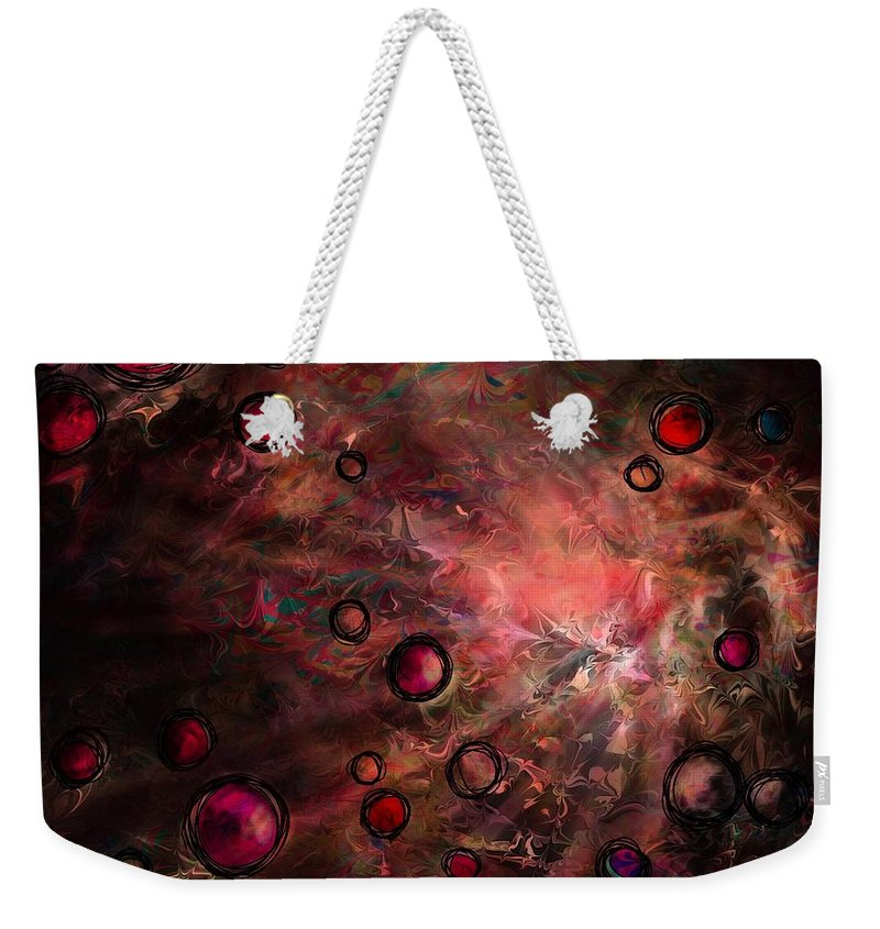 Abstract Weekender Tote Bag featuring the digital art The Heart Of A Dream by Rachel Christine Nowicki