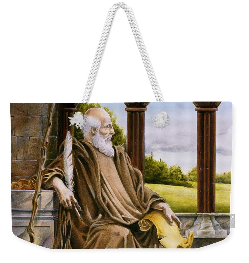 Wise Man Weekender Tote Bag featuring the painting The Hermit Nascien by Melissa A Benson