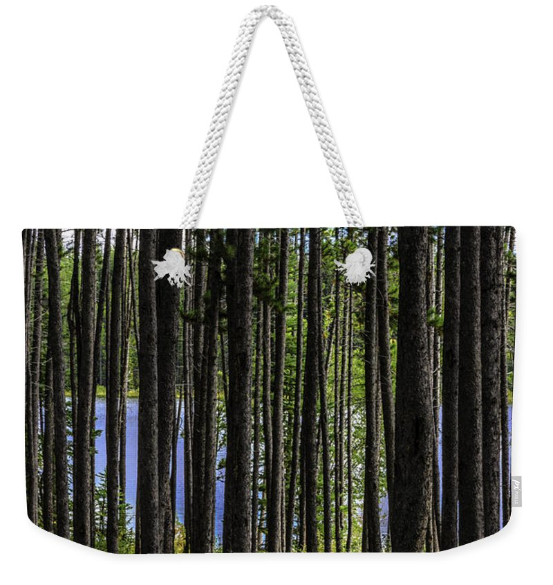 Outside Weekender Tote Bag featuring the photograph The Hidden Lake by Joseph Yvon Cote