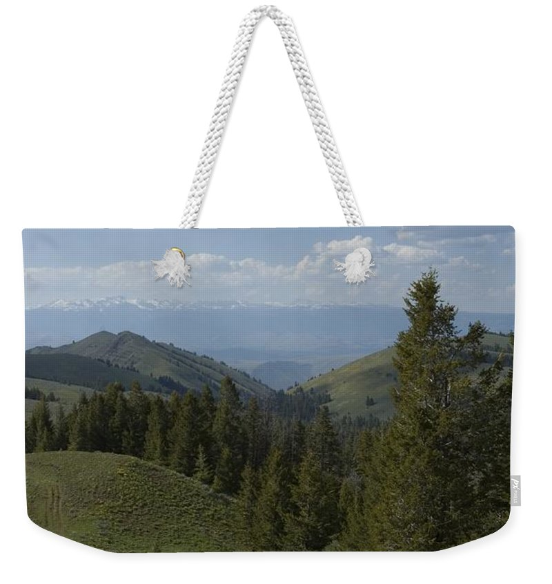 Mountain Weekender Tote Bag featuring the photograph The High Road by Sara Stevenson