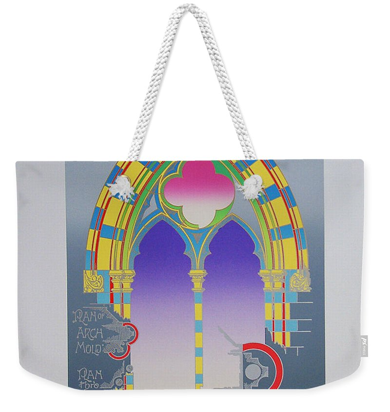 Window Weekender Tote Bag featuring the mixed media The High Window by Charles Stuart