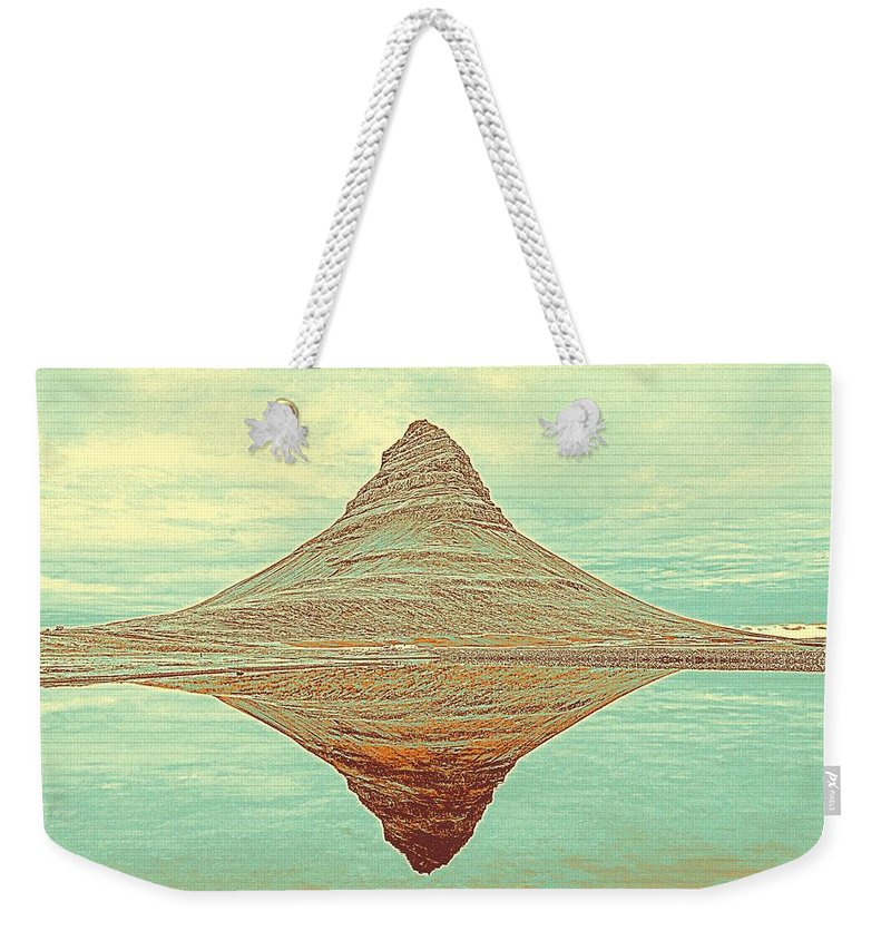 Nature Weekender Tote Bag featuring the painting The Hill In The Middle Of Nowhere by Celestial Images
