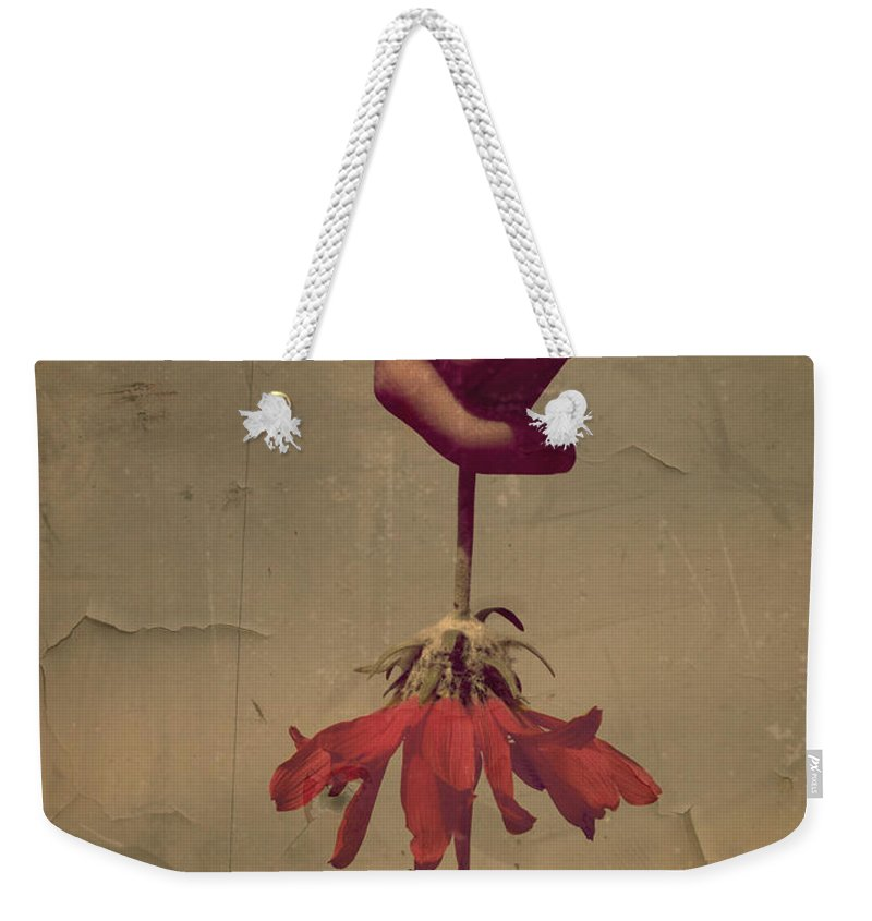 Flower Weekender Tote Bag featuring the photograph The Holding by Tara Turner