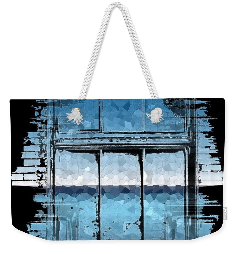 Abstract Weekender Tote Bag featuring the digital art The Horizon Beyond by Tim Allen