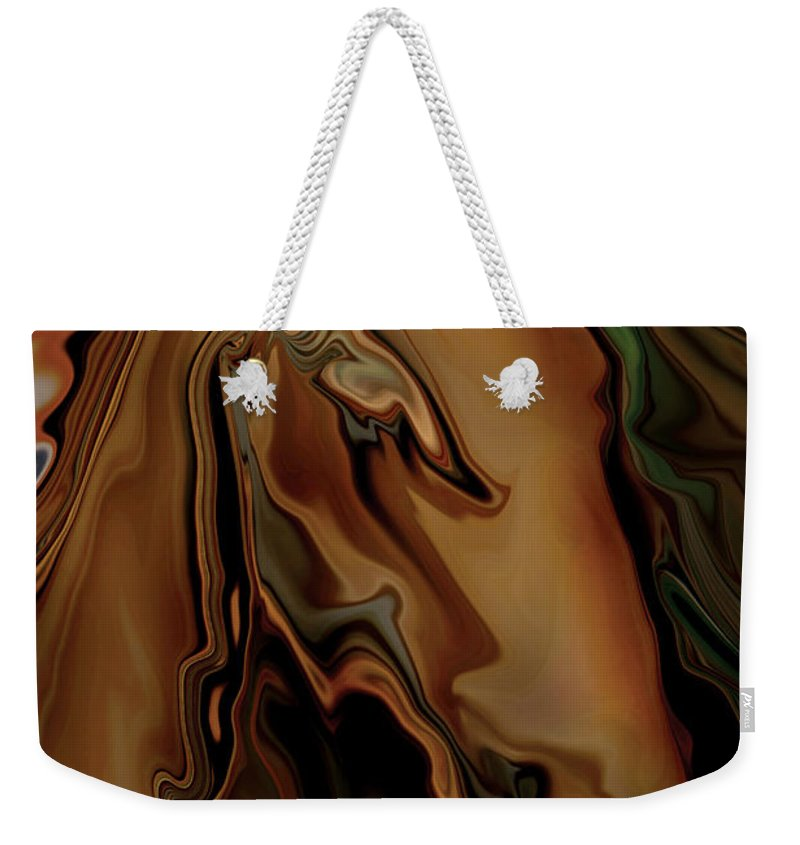 Animal Weekender Tote Bag featuring the digital art The Horse by Rabi Khan