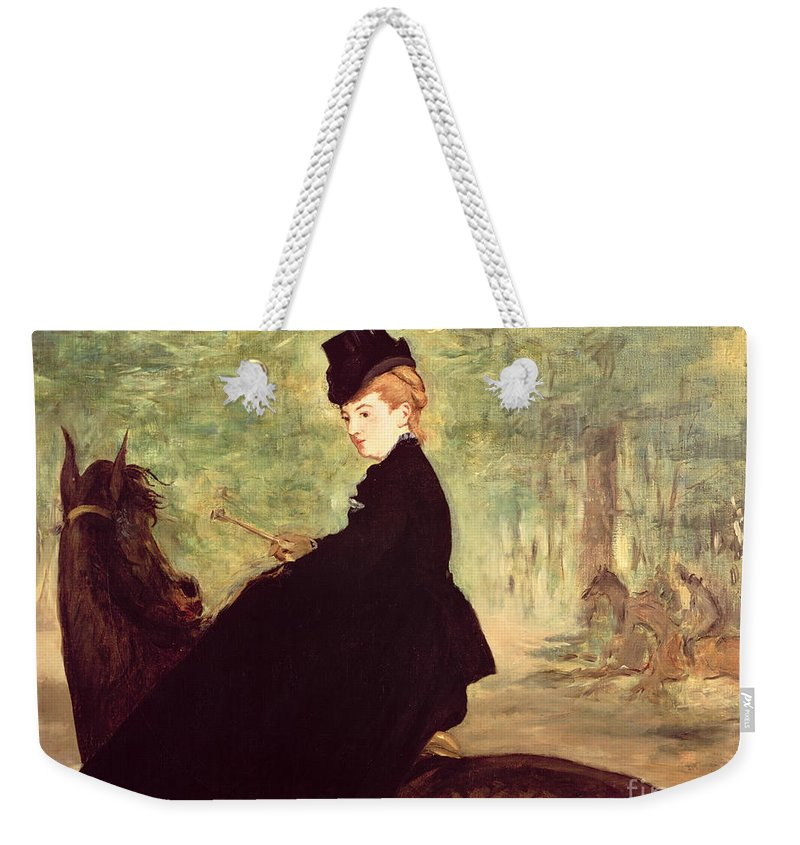 The Weekender Tote Bag featuring the painting The Horsewoman by Edouard Manet