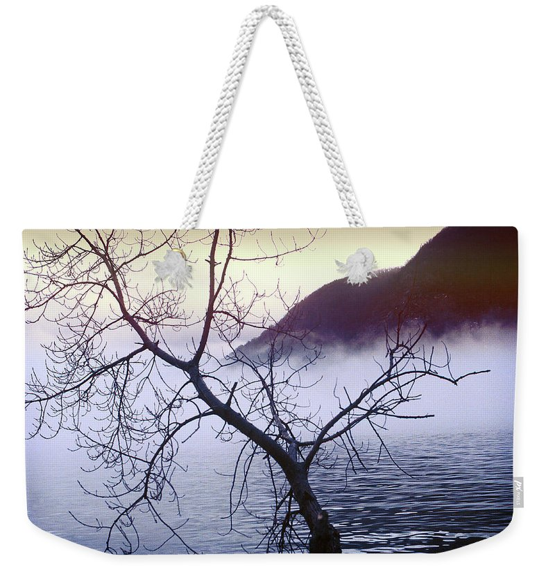 Hudson River Weekender Tote Bag featuring the photograph The Hudson Highlands by Yuri Lev