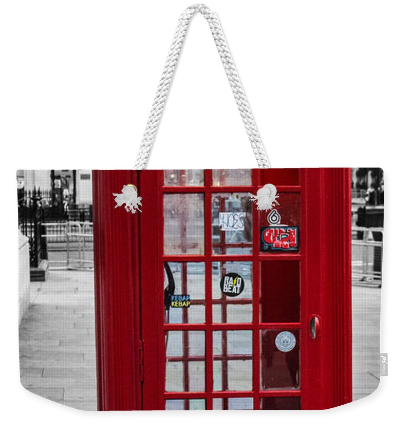 Landscape Weekender Tote Bag featuring the photograph The Iconic London Phonebox by Martin Newman