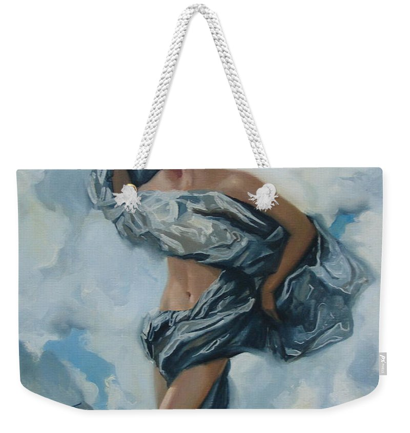 Oil Weekender Tote Bag featuring the painting The Illusion by Sergey Ignatenko