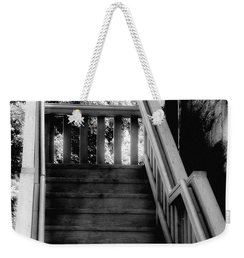 Black And White Weekender Tote Bag featuring the photograph The Immigrant Traders by RC DeWinter