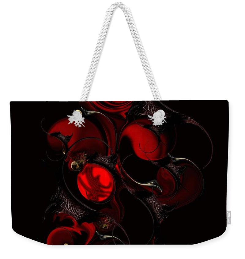 Sentiment Weekender Tote Bag featuring the digital art The Interfering Sentiment by Carmen Fine Art
