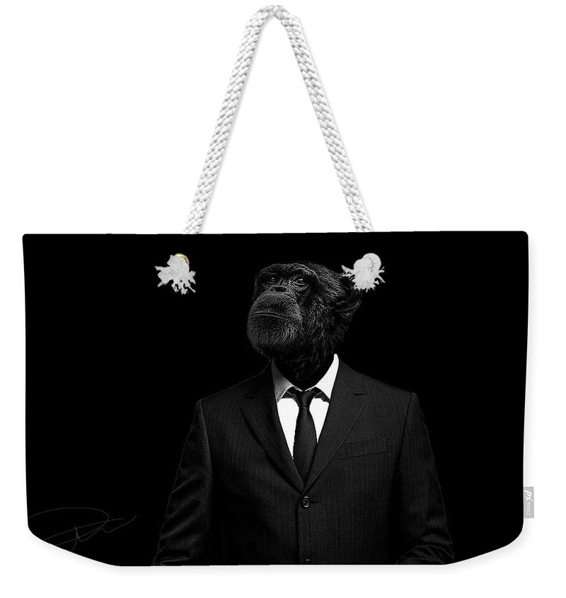 Suit Weekender Tote Bags