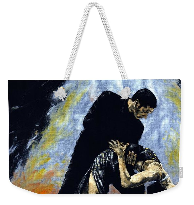Tango Weekender Tote Bag featuring the painting The Intoxication Of Tango by Richard Young