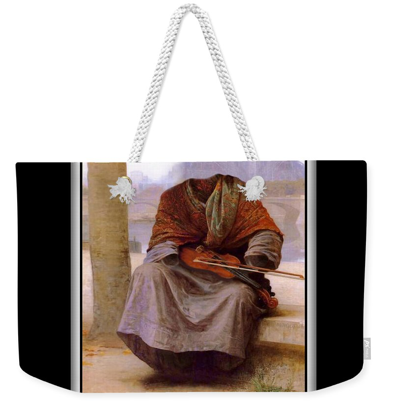 Bouguereau Weekender Tote Bag featuring the painting The Invisible Bohemian by Gravityx9 Designs