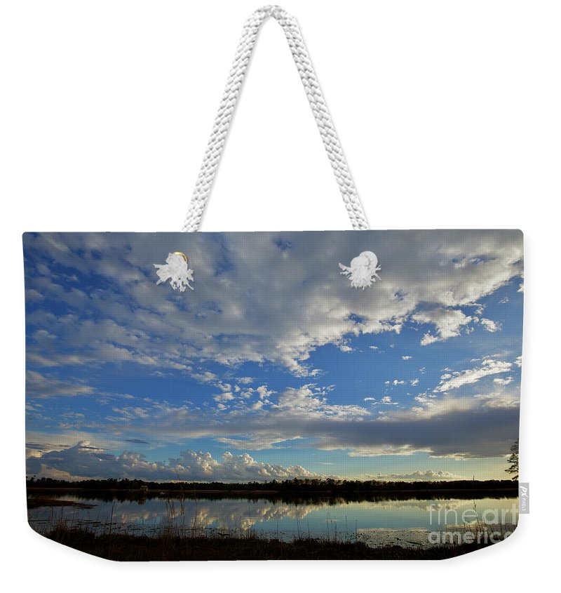 Landscape Weekender Tote Bag featuring the photograph The James by Rachel Morrison
