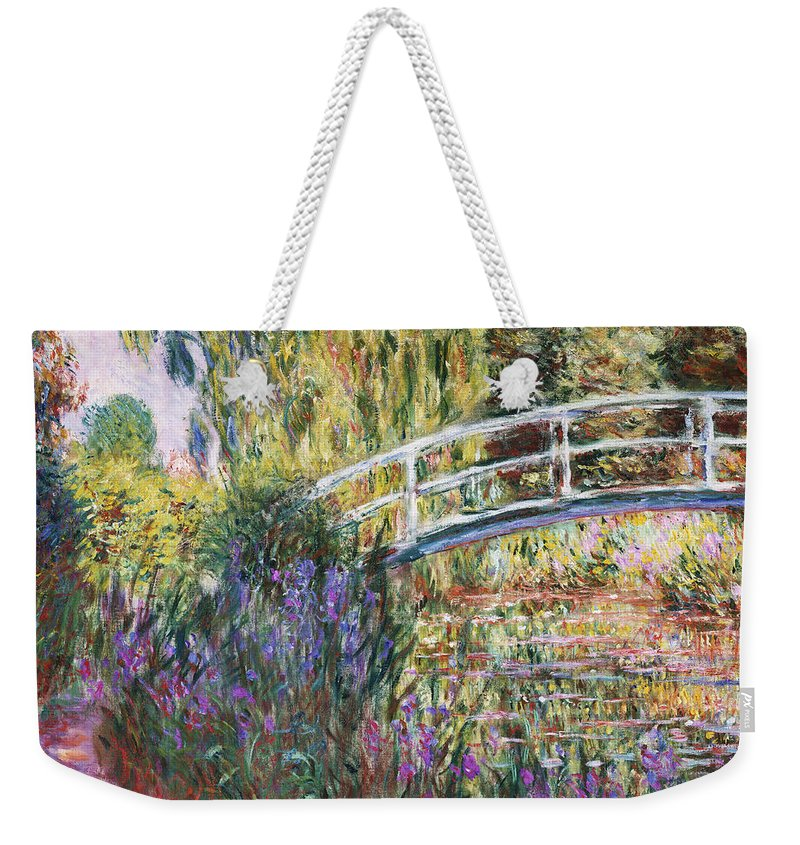 Monet Weekender Tote Bag featuring the painting The Japanese Bridge by Claude Monet