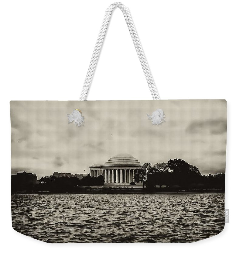 Potomac Weekender Tote Bag featuring the photograph The Jefferson Memorial by Bill Cannon