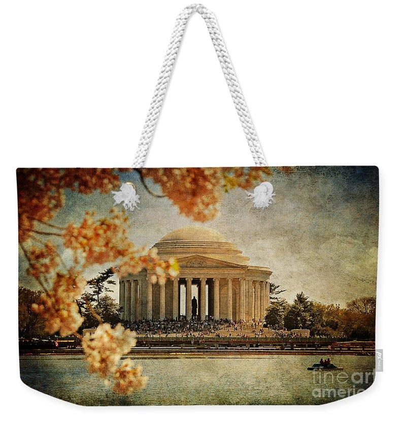 Jefferson Memorial Weekender Tote Bag featuring the photograph The Jefferson Memorial by Lois Bryan