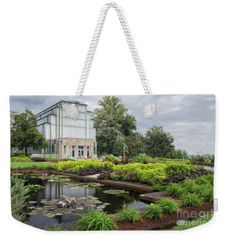Jewel Box Weekender Tote Bag featuring the photograph The Jewel Box At Forest Park by Andrea Silies