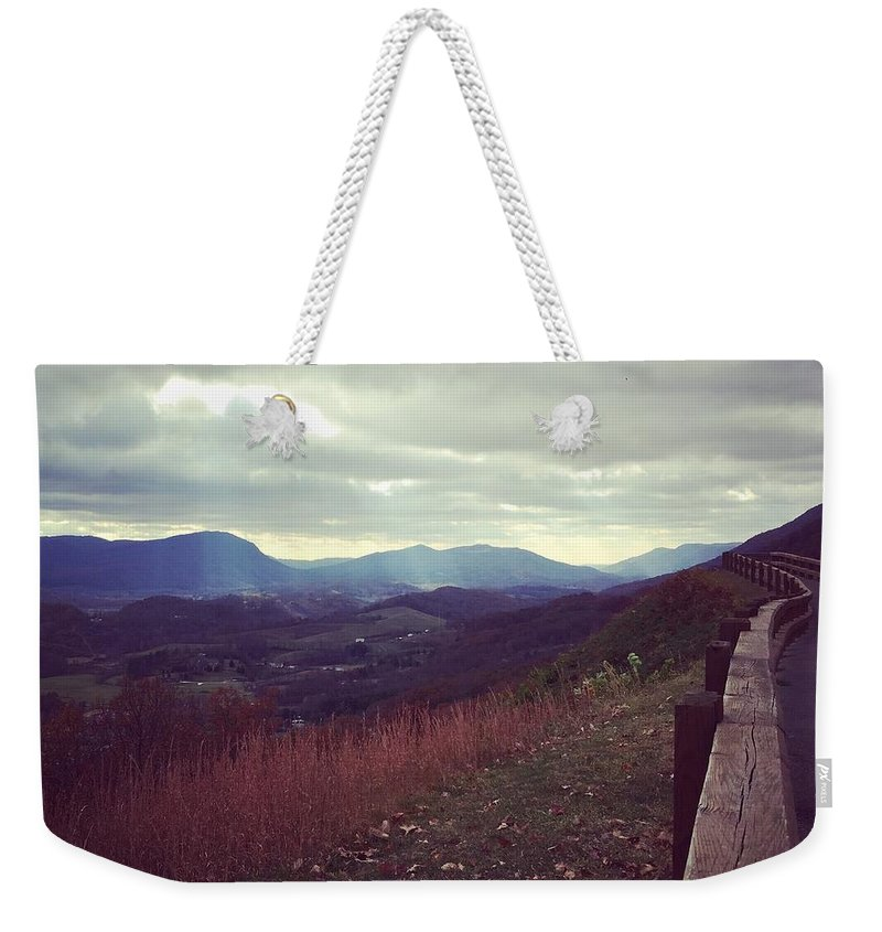 Landscape Weekender Tote Bag featuring the photograph The Journey by Melissa Golden