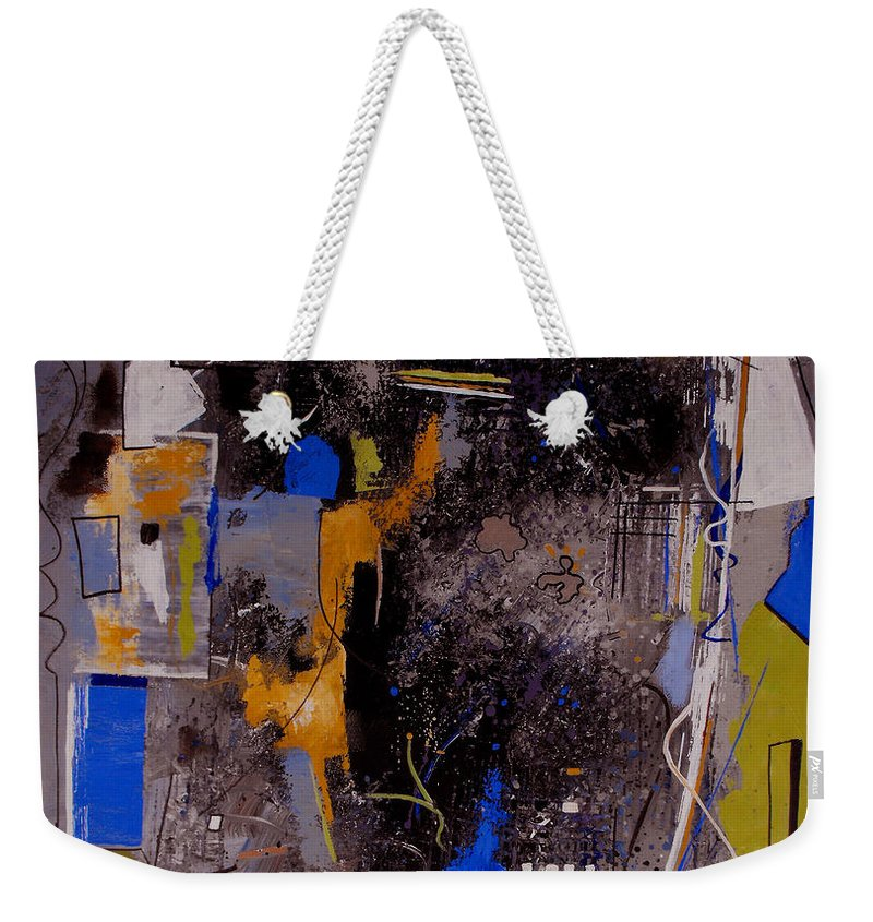 Abstract Weekender Tote Bag featuring the painting The Journey by Ruth Palmer