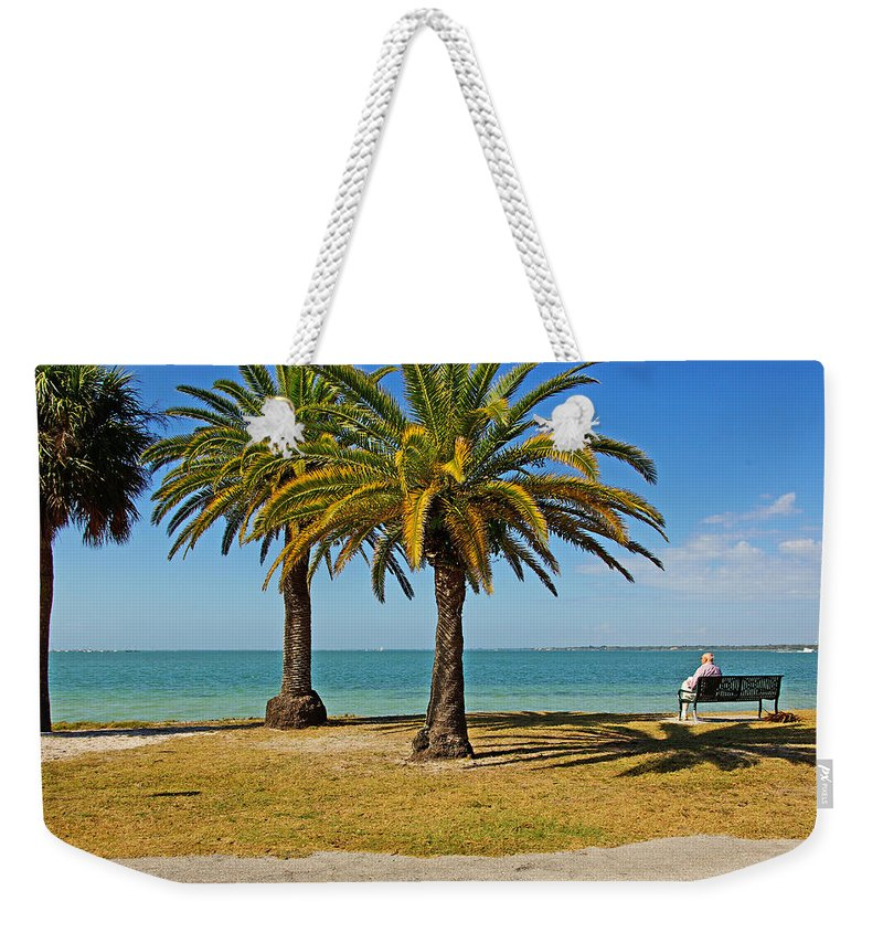 Sea Weekender Tote Bag featuring the photograph The Joy Of Sea And Palms by Zal Latzkovich