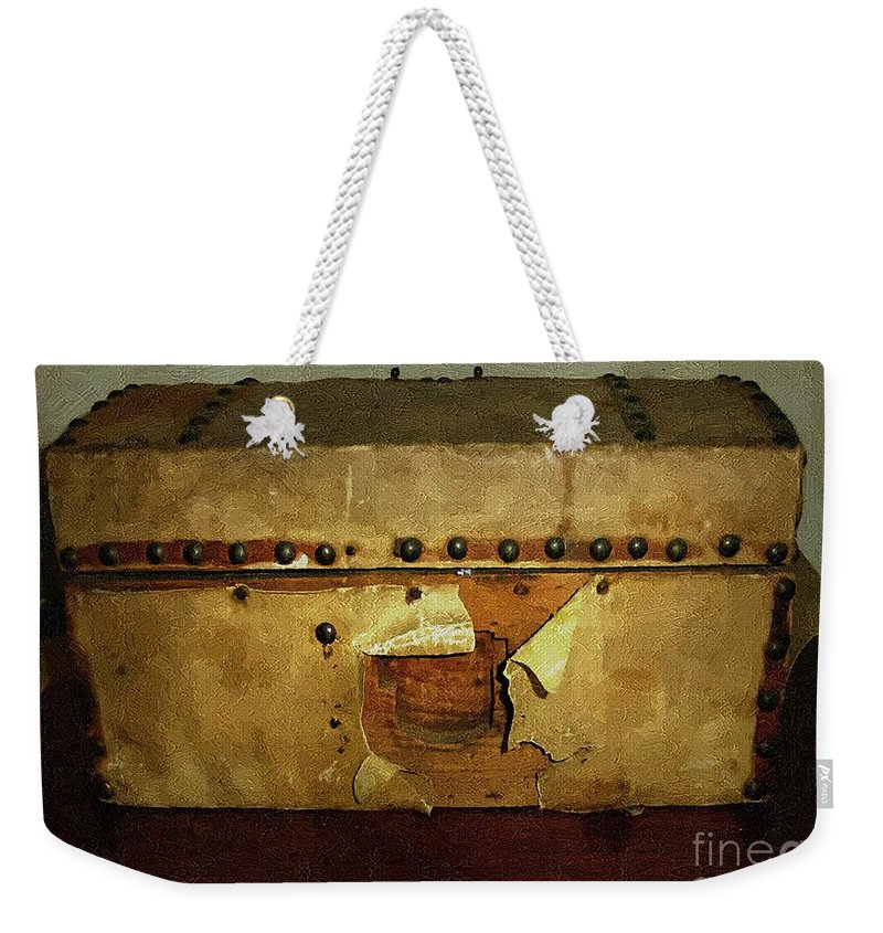 Americana Weekender Tote Bag featuring the painting The Keepsake Chest by RC DeWinter