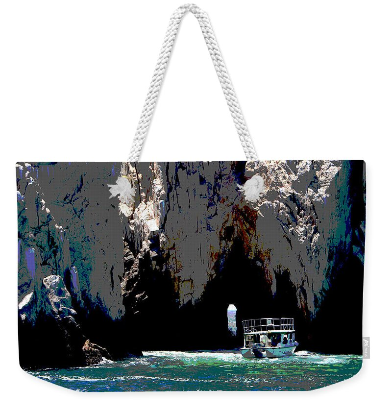 Mexico Weekender Tote Bag featuring the photograph The Keyhole Mexico Cabo San Lucas by Heather Coen
