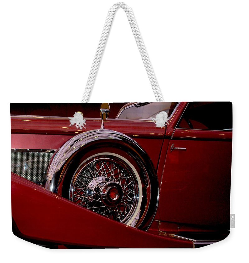 Cars Weekender Tote Bag featuring the photograph The King Of The Road by Susanne Van Hulst