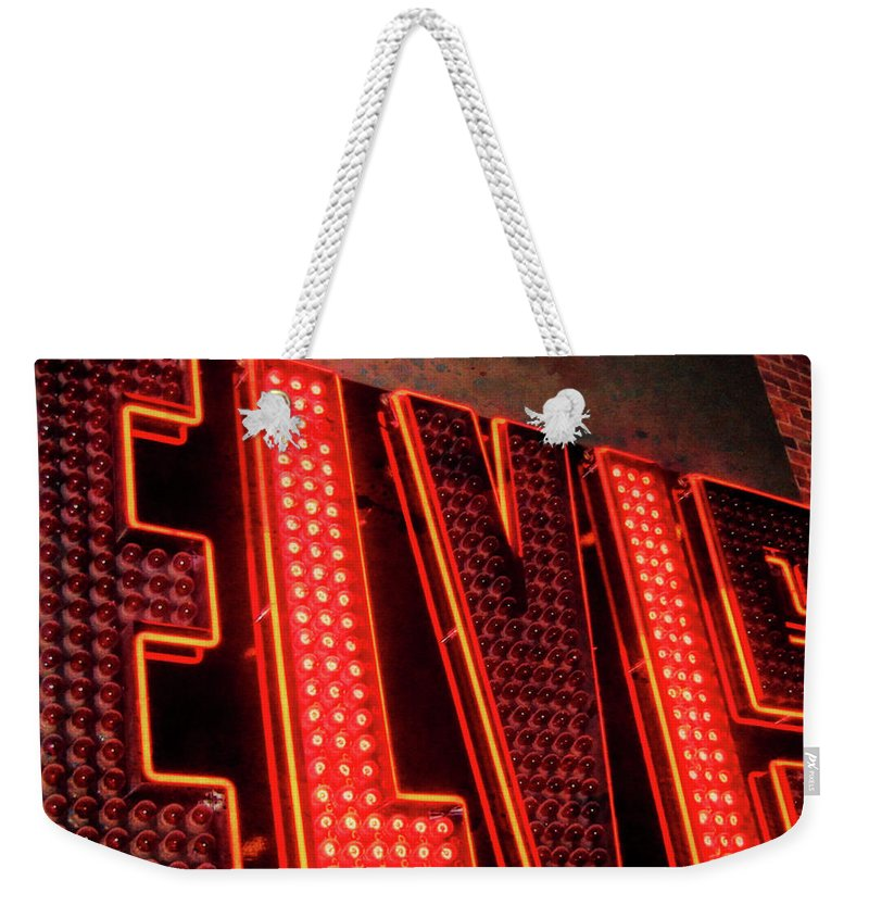 Vegas Weekender Tote Bag featuring the photograph The King Quote by JAMART Photography