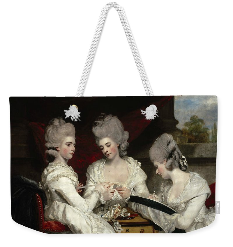 18th Century Art Weekender Tote Bag featuring the painting The Ladies Waldegrave by Joshua Reynolds