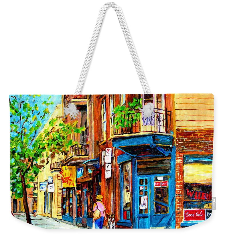 Wilenskys Weekender Tote Bag featuring the painting The Lady In Pink by Carole Spandau
