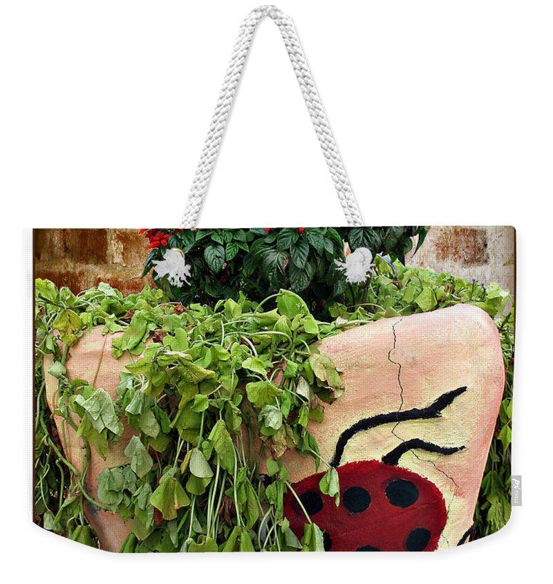 Ladybug Weekender Tote Bag featuring the photograph the Ladybug by Joan Minchak