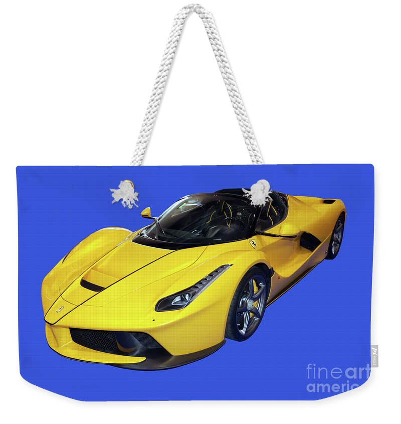 Laferrari Weekender Tote Bag featuring the photograph The Laferrari Aperta by John Gaffen