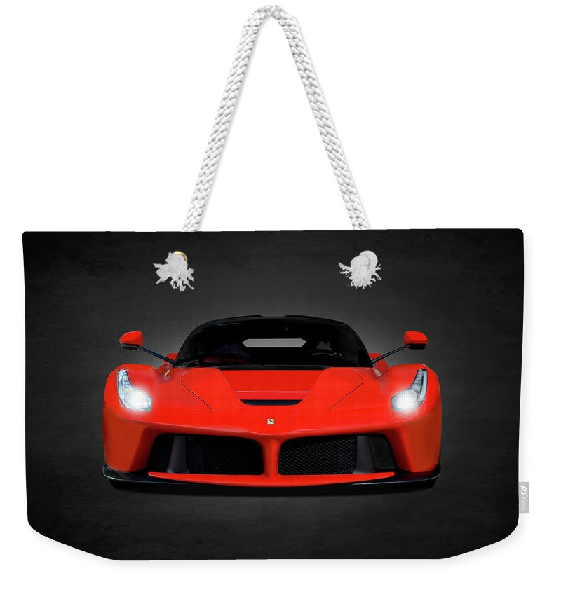 Ferrari Weekender Tote Bag featuring the photograph The Laferrari by Mark Rogan