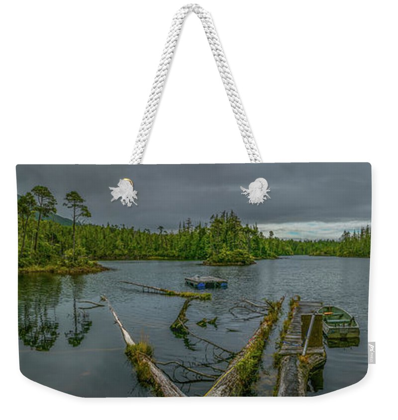Landscape Weekender Tote Bag featuring the photograph The Lake by Jason Brooks