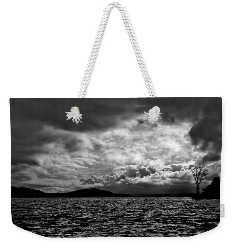 Nature Weekender Tote Bag featuring the photograph The Lake by John K Sampson