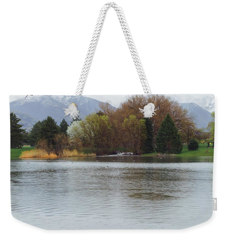 Fishing Industry Weekender Tote Bag featuring the photograph The Lake View by Konstantin Khanov