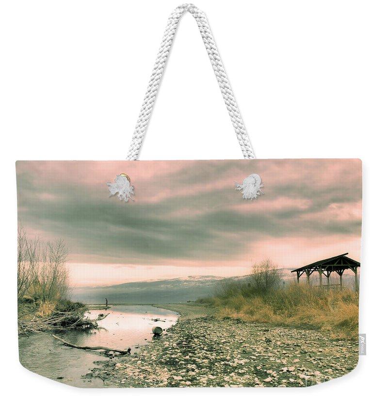 Okanagan Weekender Tote Bag featuring the photograph The Lake Walker by Tara Turner