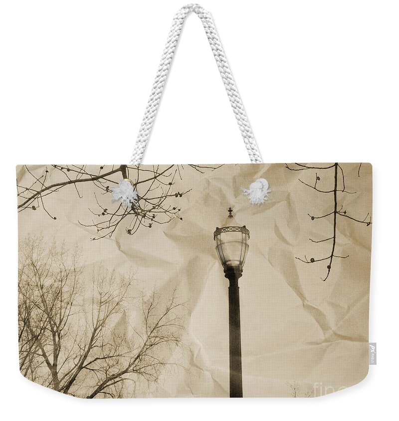 Street Weekender Tote Bag featuring the photograph The Lampost by Tara Turner