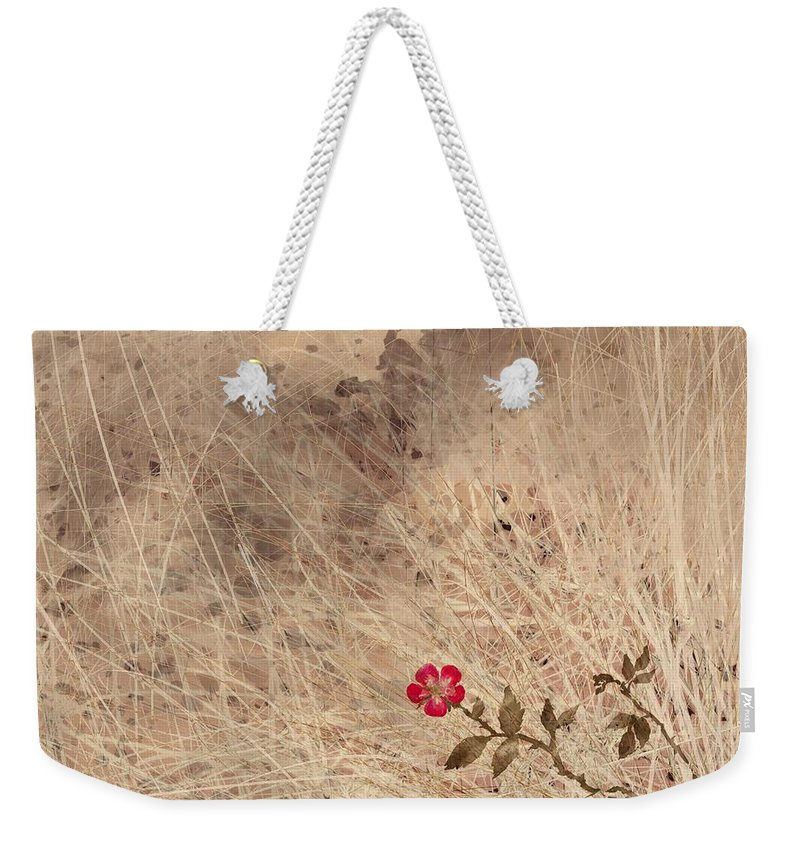 Abstract Weekender Tote Bag featuring the digital art The Last Blossom by William Russell Nowicki