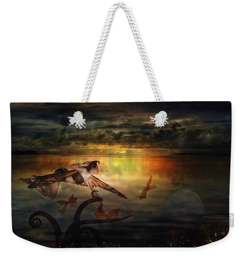 Fairy Weekender Tote Bag featuring the digital art The Last Fairy Tale by Terry Fleckney