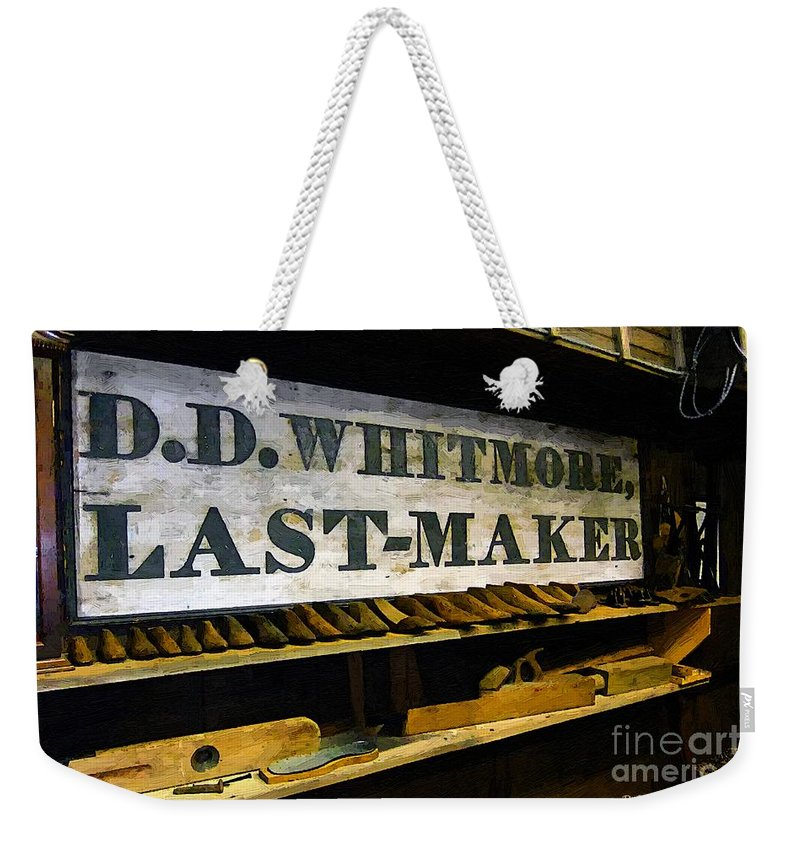 Antique Weekender Tote Bag featuring the painting The Last Of The Last by RC DeWinter