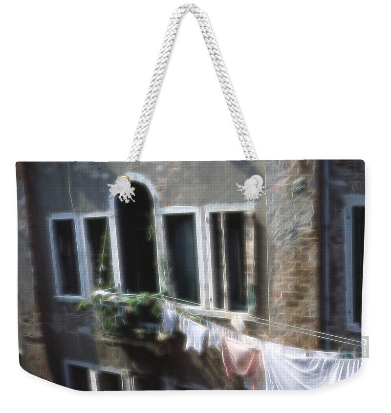 Weekender Tote Bag featuring the photograph The Laundry by Cathy Anderson