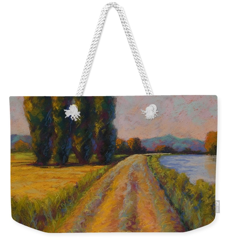 Pastel Weekender Tote Bag featuring the painting The Levee by Marion Rose