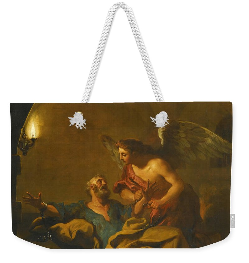 Jean-francois Detroy Weekender Tote Bag featuring the painting The Liberation Of Saint Peter by Jean-Francois Detroy